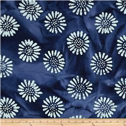 Indian Batik Daisy Blue