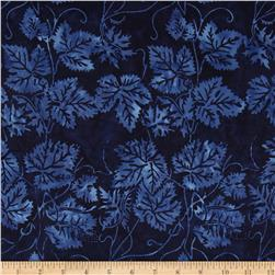Island Batik Leaves Navy/Blue