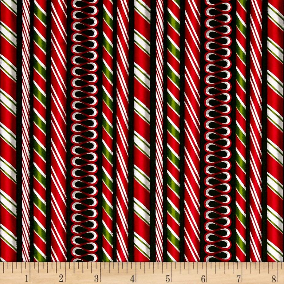 Kaufman Holly Jolly Christmas Candy Cane Evergreen