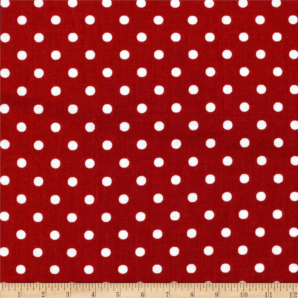 Michael Miller Petit Point Red