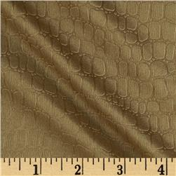Stretch Embossed Slinky Knit Crocodile Gold