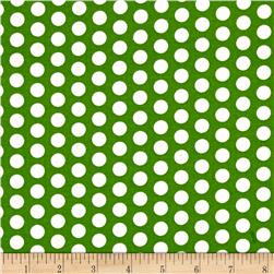 Novelty Christmas Dots Green