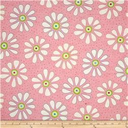 Moda Bandana Flower Child Party Pink Fabric
