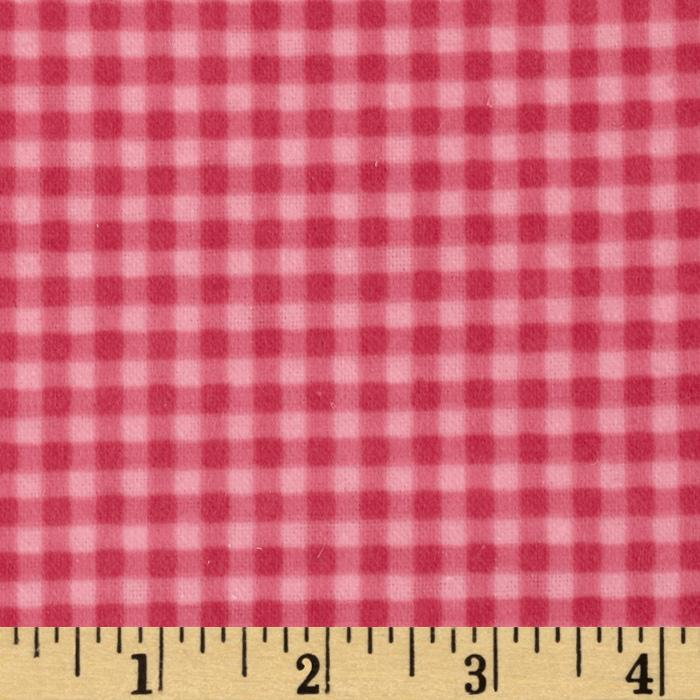 Heritage Flannel Gingham Check Hot Pink