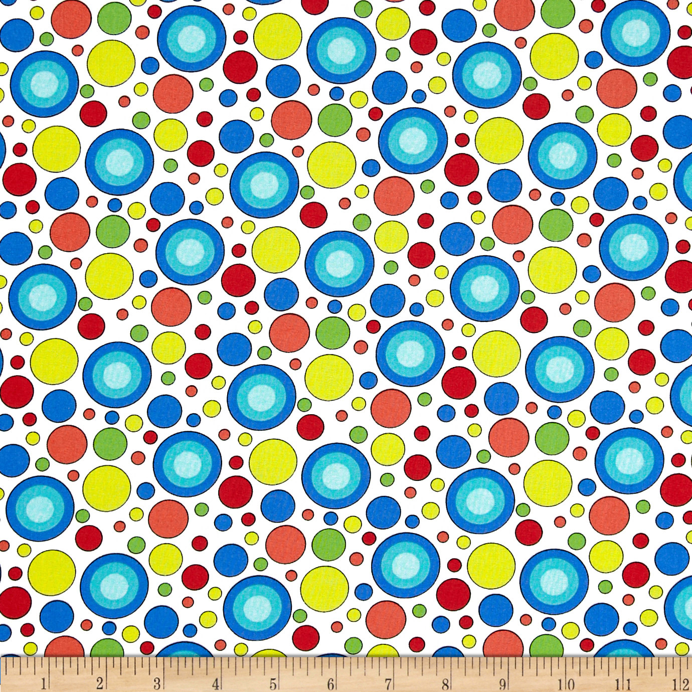 Geniuses Go Wild Dots and Spots White Fabric