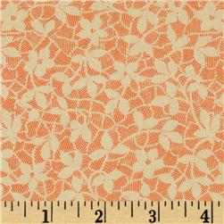 More Antique Treasure Tossed Floral Vines Pink/Cream