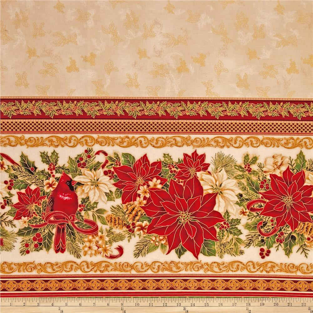 "Holiday Flourish 6 Tabletop 58"" Wide Metallic Holiday Natural"