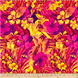 Tahitian Floral Printed Athletic Knit Coral/Purple