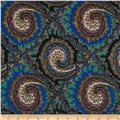 Brazil Stretch ITY Jersey Knit Paisley Blue/Multi