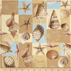 Exclusively Quilters Inspirations Shells in Boxes Tan