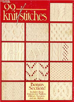 "Leisure Arts ""99 Knit Stitches"" Book"