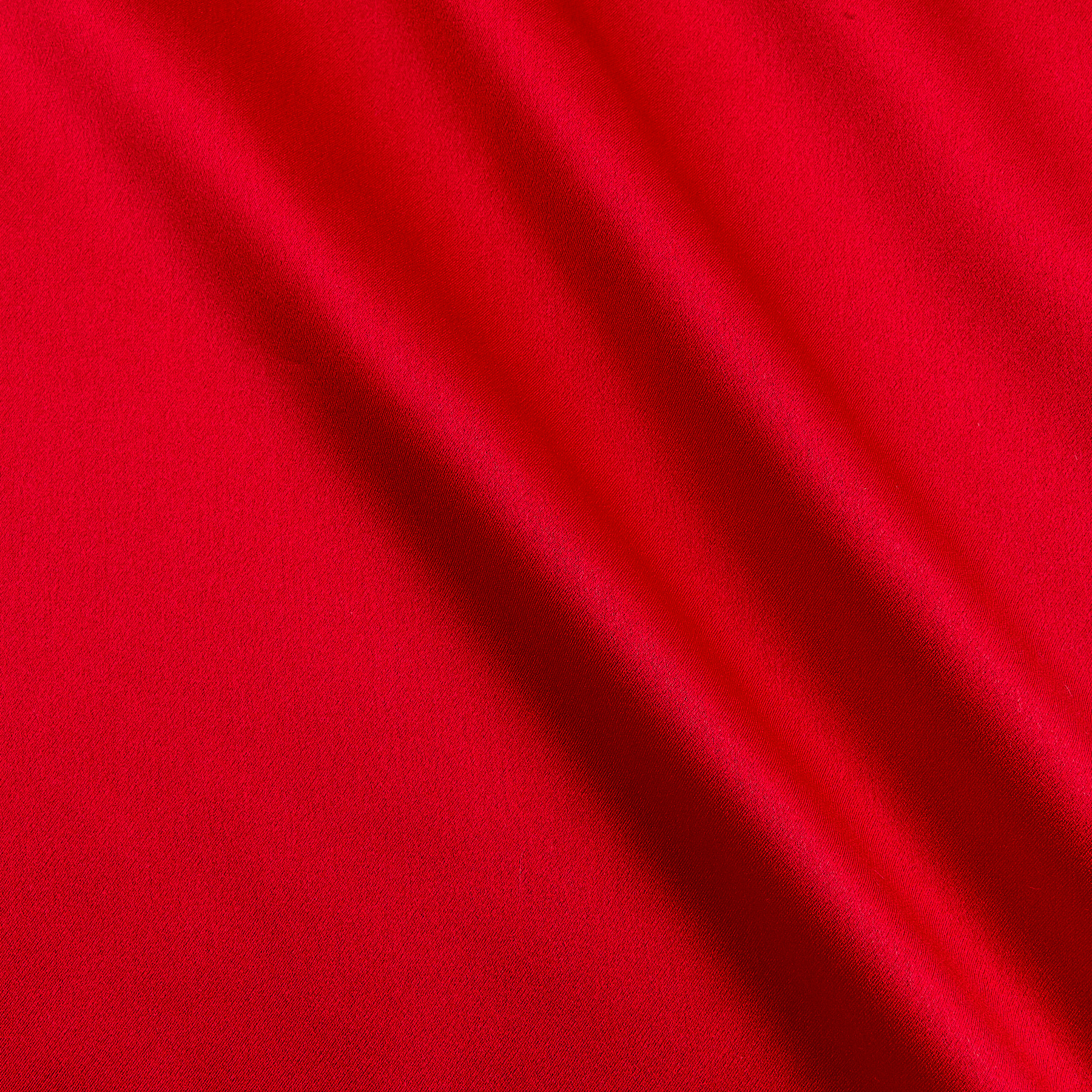 Image of 100% Silk Charmeuse Red Fabric
