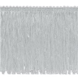 4'' Stretch Chainette Fringe Trim White