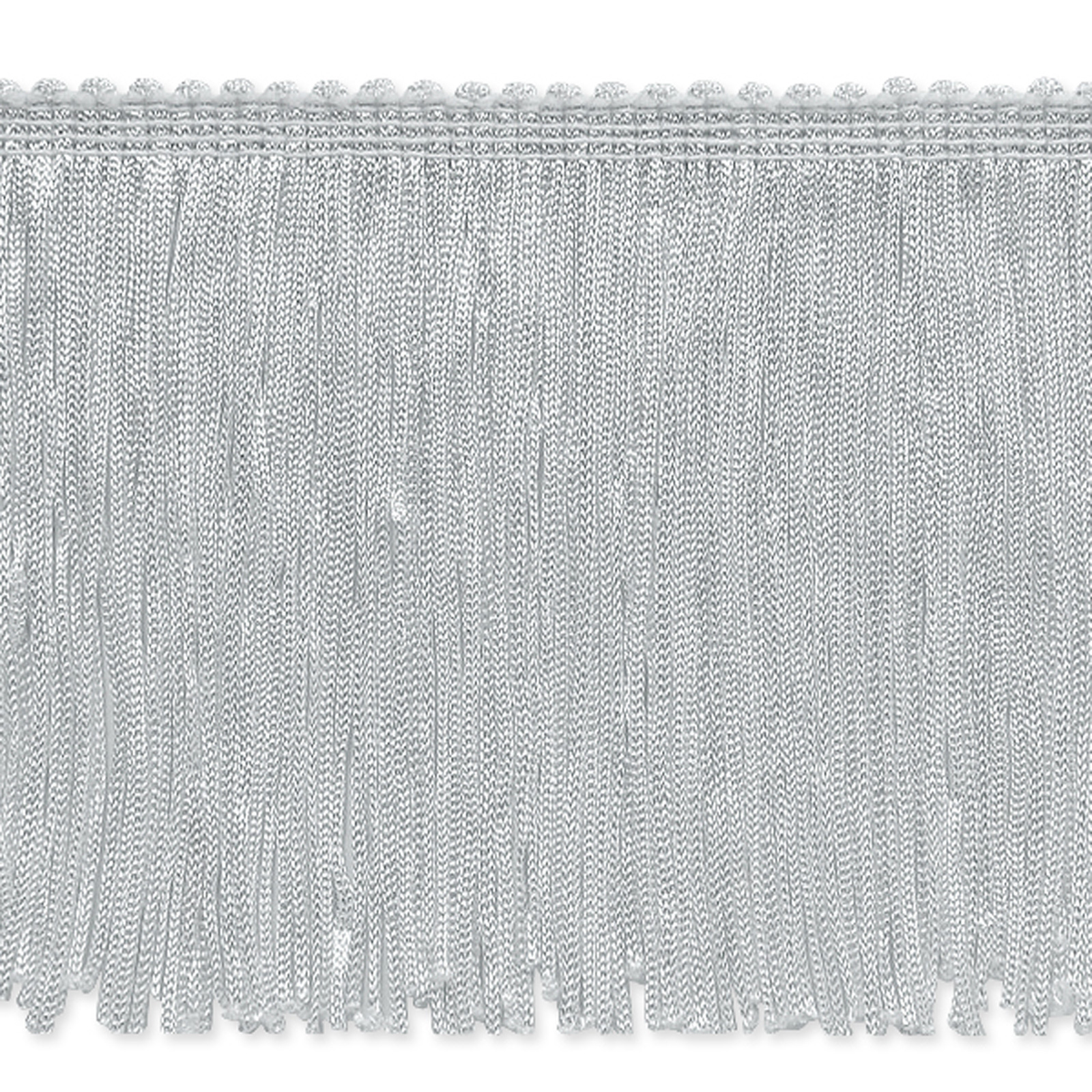 4'' Stretch Chainette Fringe Trim White by Expo in USA