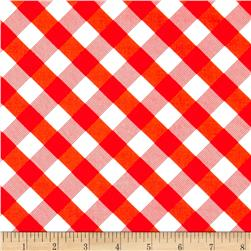 Sundborn Garden Criss Cross Plaid Red