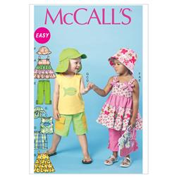 McCall's Toddlers'/Children's Tops, Shorts, Pants and Hats Pattern M6495 Size CB0