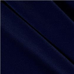 Brushed Polyester/Spandex Athletic Pique Knit Navy