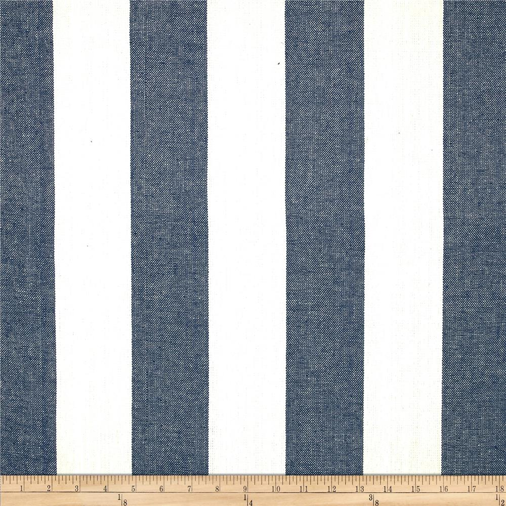 Covington Riley Stripe Yarn Dyed Denim Blue
