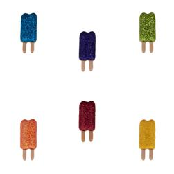Dress It Up Embellishment Buttons  Glitter Popsicles