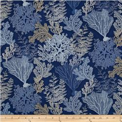 Seascape Metallic Coral Reef Navy/Silver