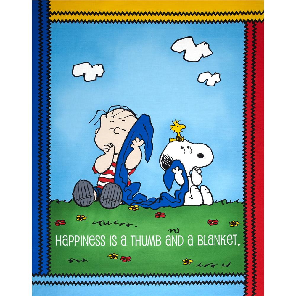 Peanuts Project Linus Panel Blue Fabric