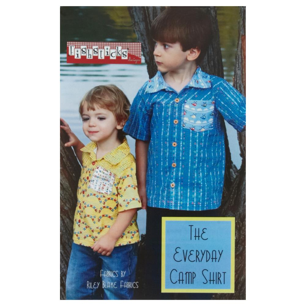 COMBINE Fishsticks Everyday Camp Shirt Pattern