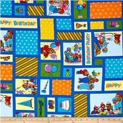 Moda Beary Happy Birthday Blue