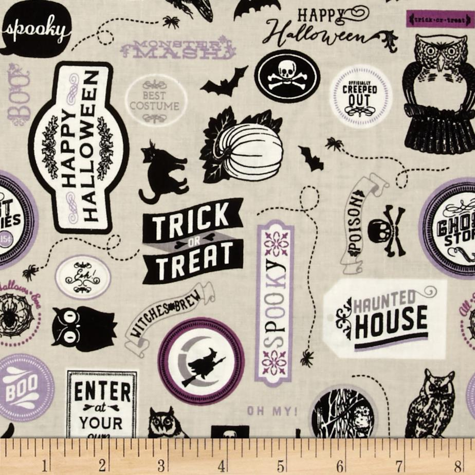 Riley Blake Happy Haunting Sticker Purple