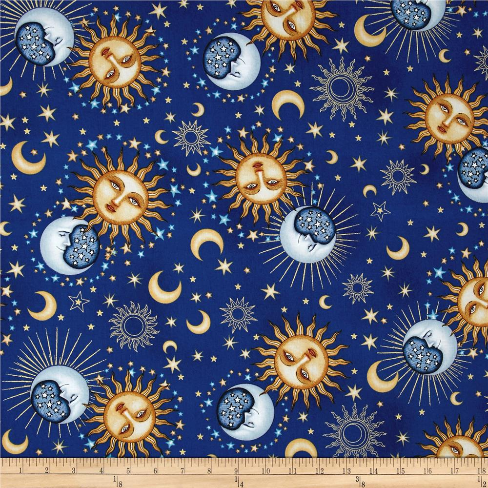 Celestial Sol Metallic Day & Night Toss Dark Blue