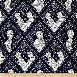 Disney Frozen Sisters in Damask Navy