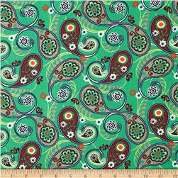 Wild Patch Paisley Large Paisley Turquoise