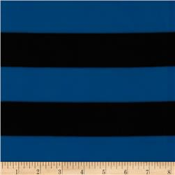 Techno Scuba Knit Stripe Blue/Black