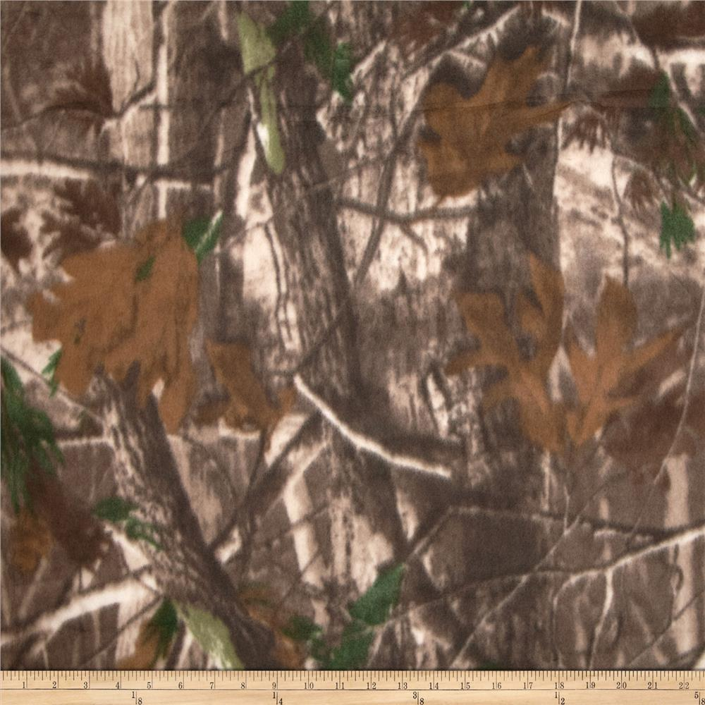 Camouflage Fleece Print Woods Brown