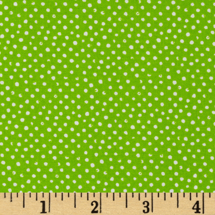 Mini Confetti Dot Lime Fabric