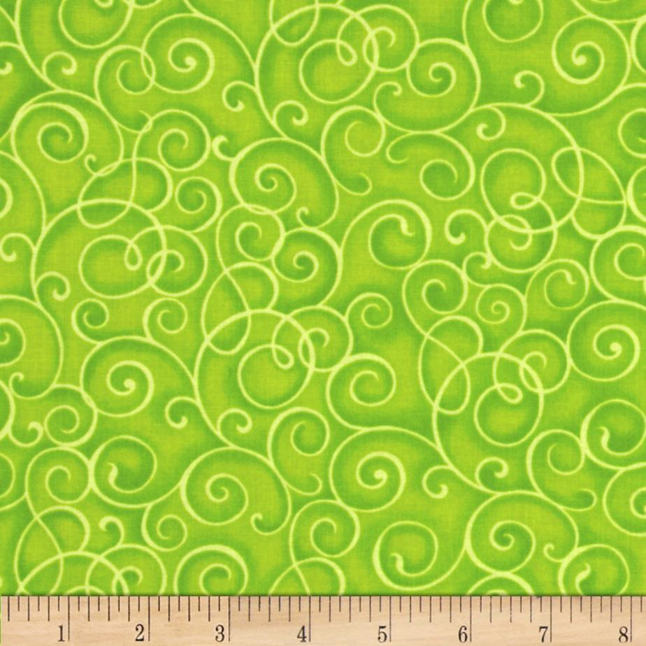 Hip Happier Scrolls Lime