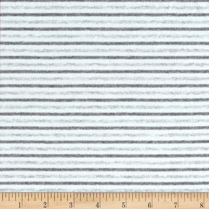 Cotton Lycra Spandex Jersey Stripe Light Grey