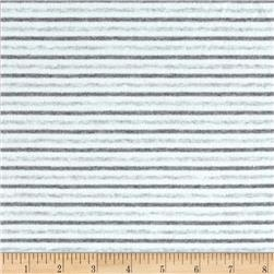 Cotton Lycra Jersey Stripe Light Grey