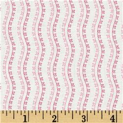 Little Sweethearts Striped Wave White/Pink