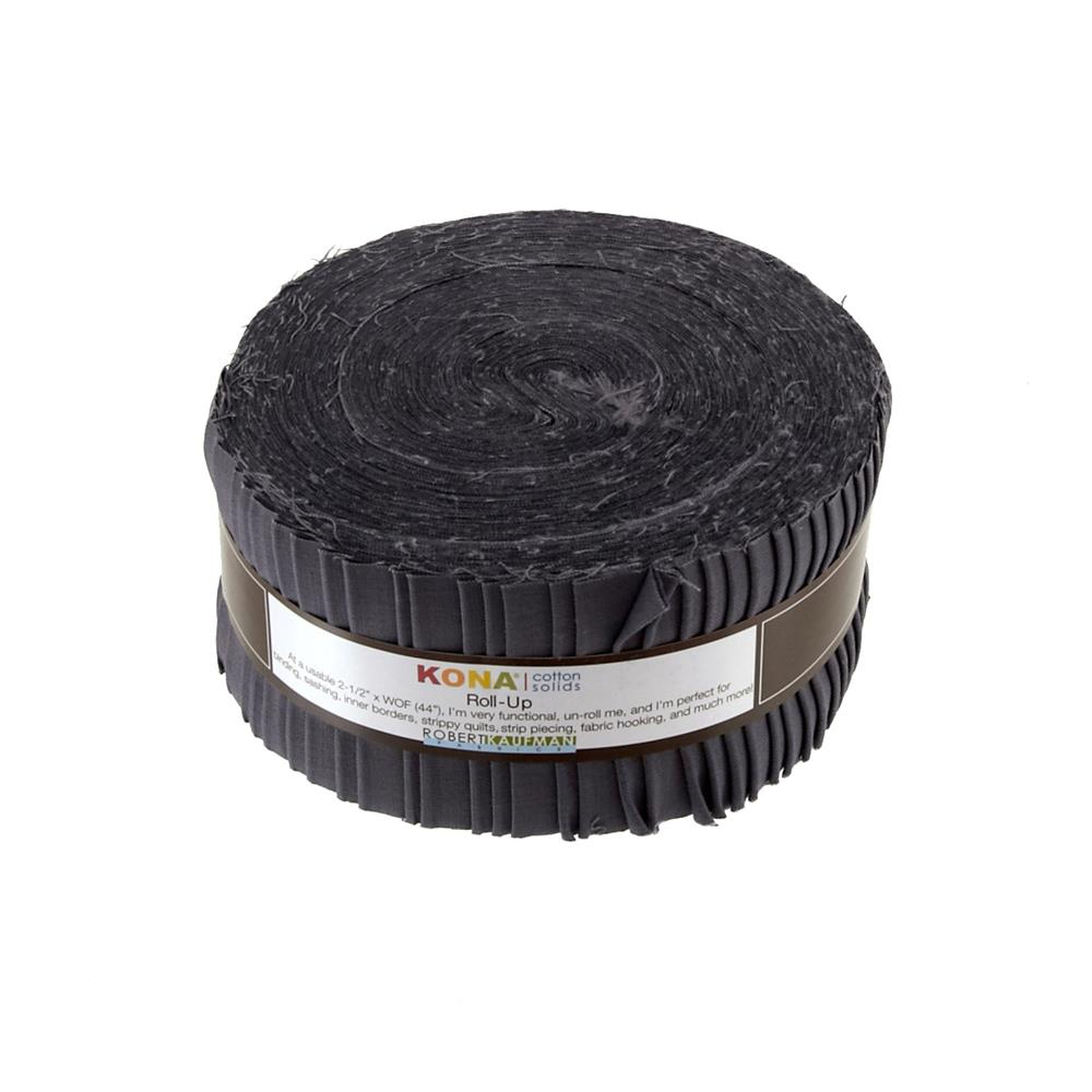 "Kona Cotton Coal 2.5"" Roll Ups"