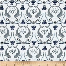 Dear Stella Into The Reef Narwhal Damask White