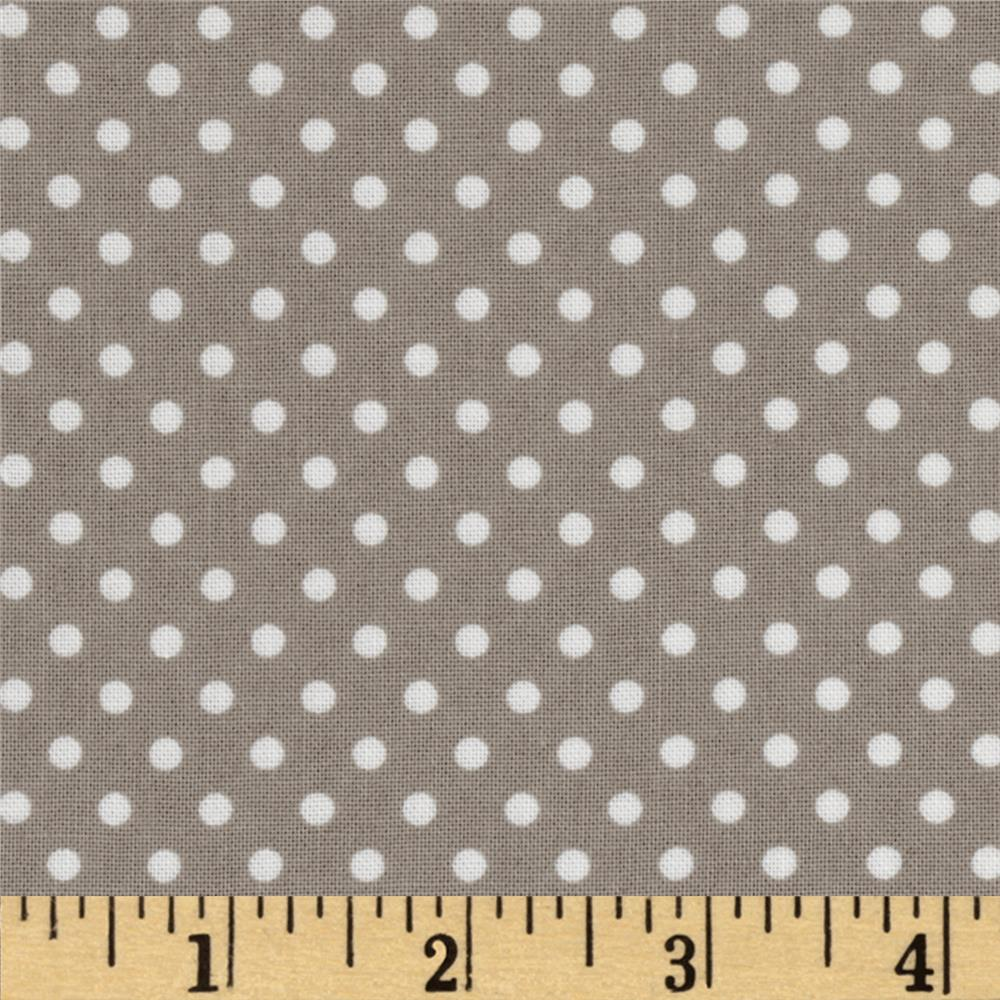 Moda Dottie Small Dots Stone