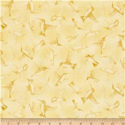 Hummingbirds Tonal Light Yellow