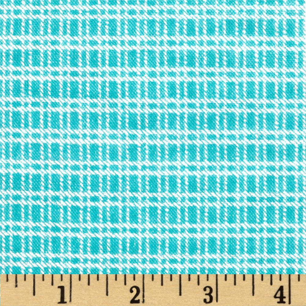 Aunt Polly's Flannel Medium Checkered Aqua/White