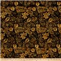 Island Batik French Roasted Fern Black/Gold