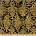 Holiday Flourish Metallic Damask Antique Black