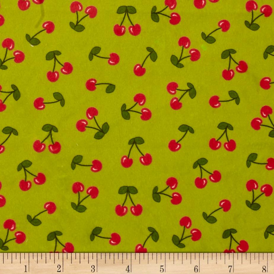 Minky Cherries Green/Red
