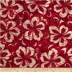 Surf N' Sand Tropicals Tropical Floral Red