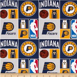 NBA Cotton Broadcloth Indiana Pacers Patch Blue Fabric