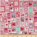 Riley Blake Lovey Dovey Stamps Pink