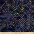 Indian Batiks Diamond Grid Purple